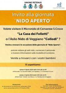 Nido aperto a Veggiano e Cervarese Santa Croce 2016